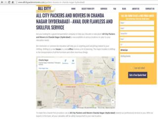 Packers and Movers in Chanda Nagar (Hyderabad)-All City Packers & Movers®