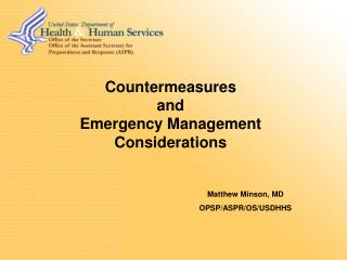 Countermeasures  and Emergency Management Considerations
