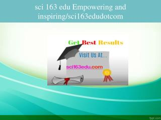 sci 163 edu Empowering and inspiring/sci163edudotcom