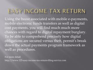123 easy income tax return filing service