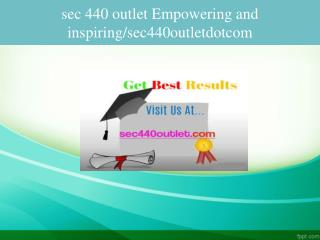 sec 440 outlet Empowering and inspiring/sec440outletdotcom