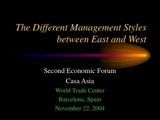 The Different Management Styles between East and West