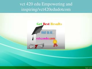 vct 420 edu Empowering and inspiring/vct420edudotcom