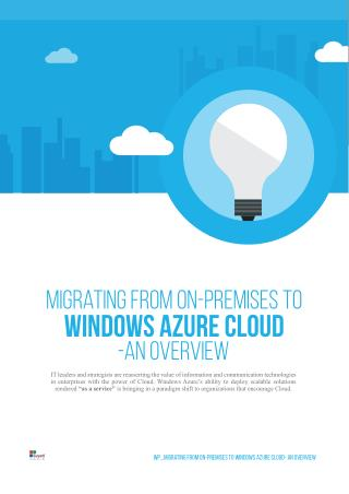 Migrating from On-Premises to Windows Azure Cloud