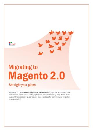 Migrating to Magento 2.0-Set your Plans