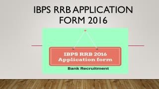 IBPS RRB 2016 Application form: Apply online here