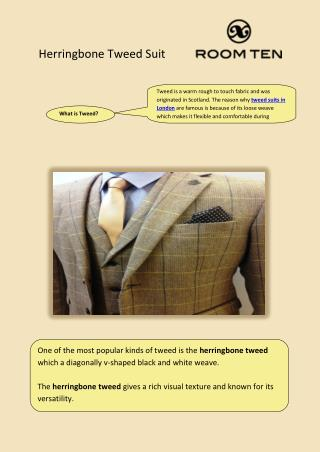 Herringbone tweed suit