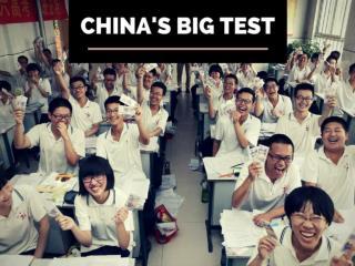 China's big test