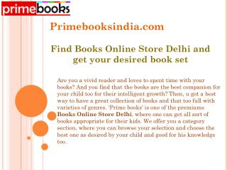 Find Books Online Store Delhi and get your desired book set