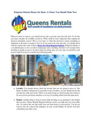 Kingston Ontario Houses For Rent