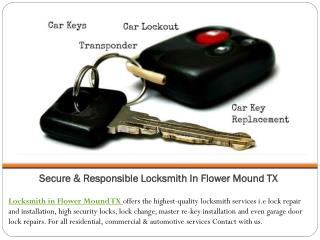 Secure & Responsible Locksmith in Flower Mound TX
