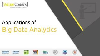 Applications of Big Data Marketing Analytics