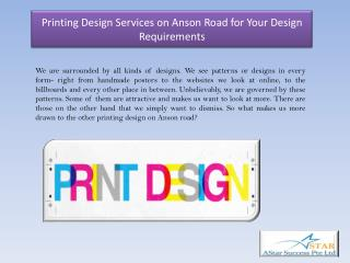 Printing Design Services on Anson Road for Your Design Requirements