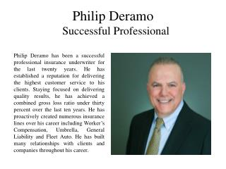 Philip Deramo - Successful Professional