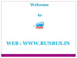 Book Volvo Bus Tickets Online India runBus in