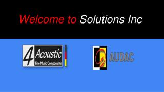 Solutions Inc-audac distributor in india