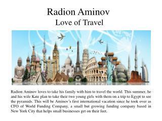 Radion Aminov - Love of Travel