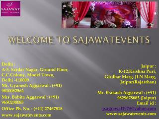 Theme Based Party Organisers in Jaipur | WEDDING PLANNERS IN DELHI - Sajawatevents.com