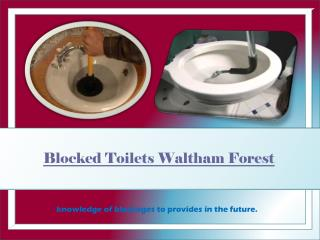 Blocked Drains Waltham Forest