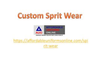 Custom Sprit Wear