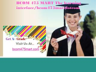 BCOM 475 MART The learning interface/bcom475martdotcom