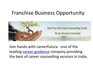 Career counselling franchise