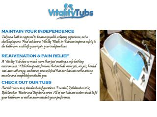 Grunted Tubs in Walk Provieds by Vitality Tubs