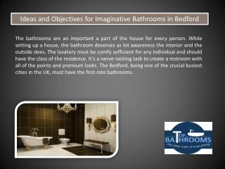 Ideas and Objectives for Imaginative Bathrooms in Bedford