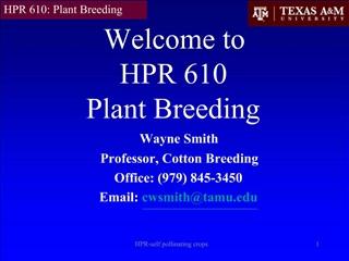 HPR-self pollinating crops