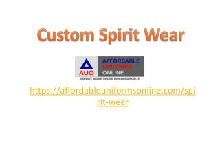 Custom Spirit Wear
