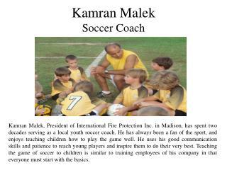 Kamran Malek - Soccer Coach