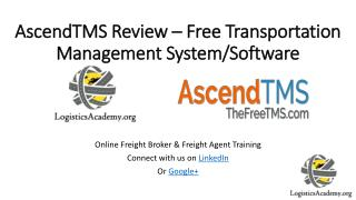 AscendTMS Review – Free Transportation Management System