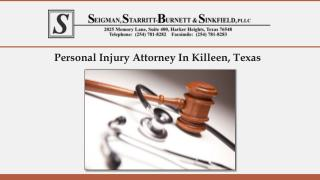 Personal Injury Attorney In Killeen, Texas