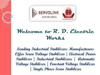 Servo Voltage Stabilizer in Delhi