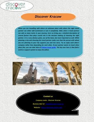 Krakow City Tours, Sightseeing & Travel Guide