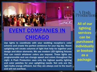 Event Rentals Chicago