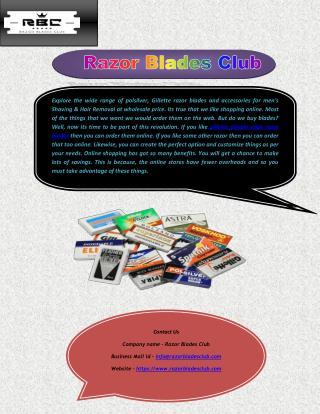 Buy Gillette's Razor Blades Online