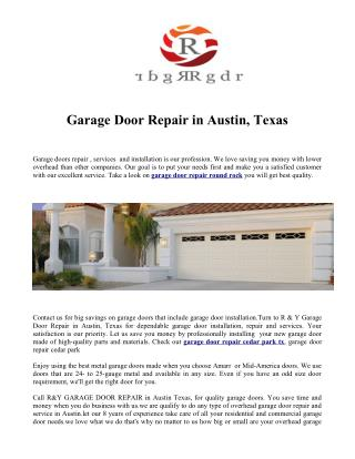 garage door repair round rock