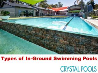 Types of In-Ground Swimming Pools