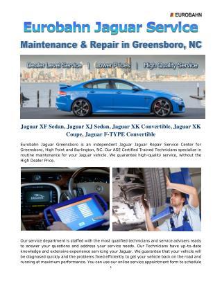 Eurobahn Jaguar Service, Maintenance & Repair in Greensboro, NC
