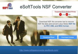 NSF to PST software smartly export NSF file to Outlook, PST,EML,MSG