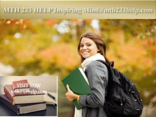 MTH 233 HELP Inspiring Minds/mth233help.com
