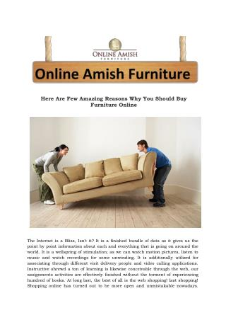 Here Are Few Amazing Reasons Why You Should Buy Furniture Online
