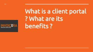 What is a Client Portal? What are its benefits?