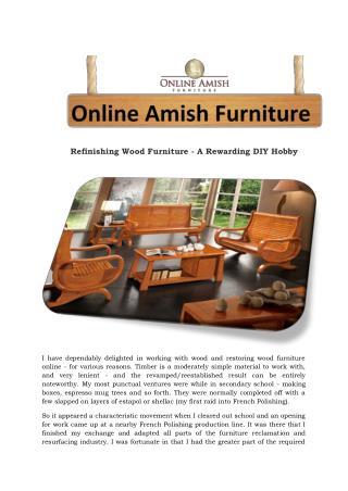 Refinishing Wood Furniture - A Rewarding DIY Hobby