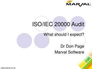 ISO/IEC Audit day Overview