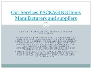 Our Services Ledies Clothing Manufacturers