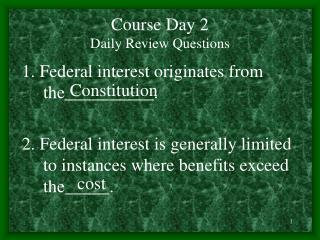 Course Day 2 Daily Review Questions