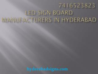LED sign board manufactures in Hyderabad