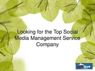 Looking for the Top Social Media Management Service Company